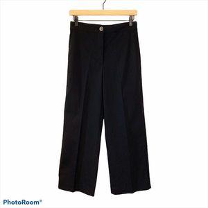 Babaton Torino Wide Leg Ankle Pants Black size 6